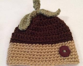 Acorn Baby Hat