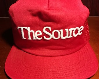 Vintage The Source red snapback trucker hat