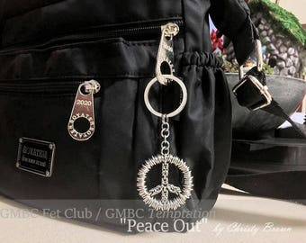 Peace Out - Stainless Steel Key Chain / Purse Charm