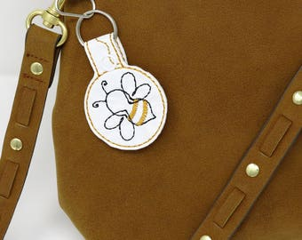 Bumble Bee Charm, Honey Bee Charm, Bee Lover Gift, Insect Charm, Key Ring Charm, Purse Charm, Bag Charm, Backpack Charm, Zipper Pull Charm