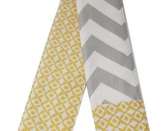 Gray Chevron & Yellow Diamond Reversible Camera Strap Cover
