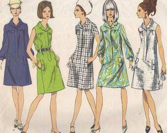 Bust 34-1960's Misses' Dress Vogue 1772 Size 14