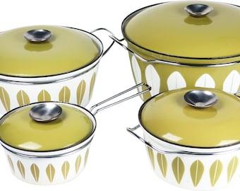 Set of Four Vintage Cathrineholm Pans