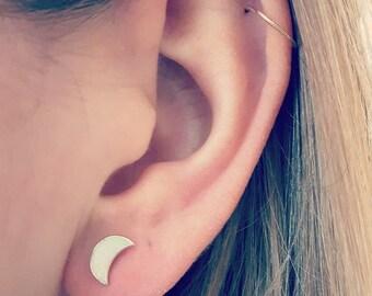 Stud Earrings silver sterling 925 Silver - Moonstone - Opal - hypoallergenic - waterproof - delicate - fine - jewelry - minimalist