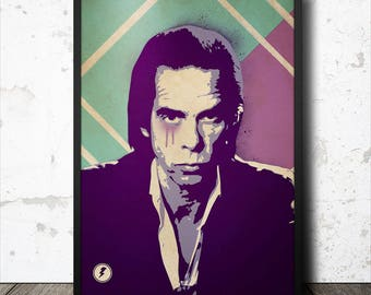 Nick Cave Music Icon Pop Art Poster
