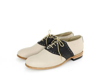 1950's vintage inspired saddle shoes for men or women - FREE WORLDWIDE SHIPPING