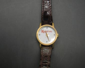 Krusteaz Wrist Watch With Faux Alligator Band