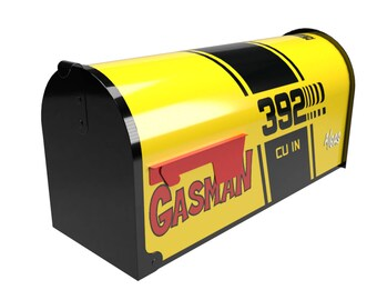 GASMAN GASSER MAILBOX Multiple Colors. Free Customization ! Your Numbers Added