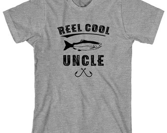 Reel Cool Uncle Shirt, uncle gift, Christmas gift, birthday gift, fisherman gift, fishing uncle - ID: 1814