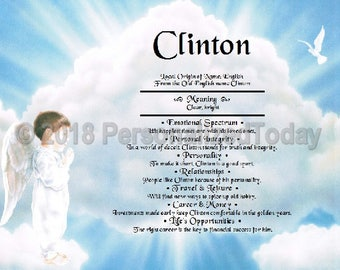 Angel Name Meaning Origin Print Name Personalize Certificate Custom Name 8.5 x 11 Heavenly Boy Male Angel Cloud Dove Inspirational Religious
