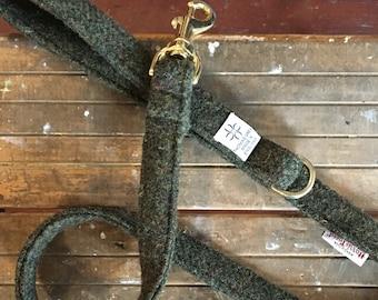 Harris Tweed Leash - Forest Green