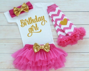 Birthday Girl Bodysuit, Girls First Birthday Shirt, Baby Girl Outfit, Princess Birthday Outfit, Cake Smash Outfit, Baby Girl Birthday Outfit