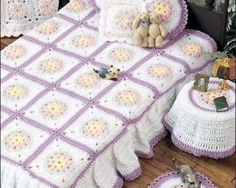 dolls bedroom set crochet pattern 99p pdf