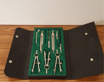 Vintage Lafayette F-13 Drafting Tools, Student, Architecture, Engineering, Drawing, Crafting