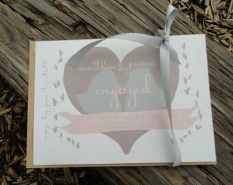Lovebird invitations, Rustic Lovebird Engagement Party Invitations, Engagement Party Invitations