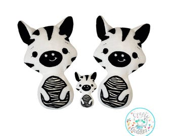 Zebra Toy Sewing Pattern, Zebra stuffie Pattern, Zebra Plushie Pattern, Zebra Pattern, Toy Pattern, Zebra Doll Pattern, Zebra Softie Pattern