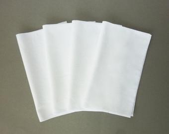 Organic Handkerchief Soft White Hankies 100% Cotton Flannel EDC Hanks Mens Hankerchief Ladies Kids Eco Friendly Reusable Tissue Replacement