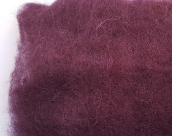 Merino Wool Roving - Mulberry - 1 oz