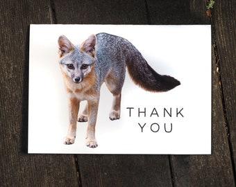 Fox Printable Thank You Card, Digital Thank You Card