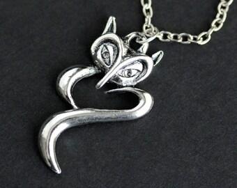 Fox Necklace. Wildlife Necklace. Woodland Necklace. Fox Charm Necklace. Silver Necklace. Handmade Necklace. Handmade Jewelry.