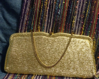 gold evening bag, sparkly bag