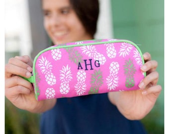 Monogrammed Pineapple Pencil Case, Personalized Pencil Case, Pineapple, Matching Items Available