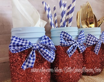 Dorothy inspired mason jar, birthday party centerpieces, Wizard of Oz wedding, birthday present, Christmas gift