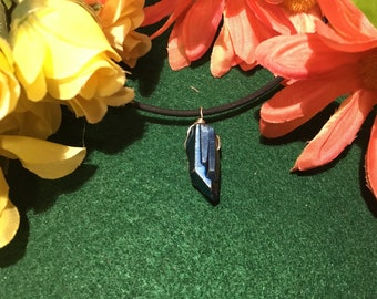 Blue Titanium Quartz Necklace
