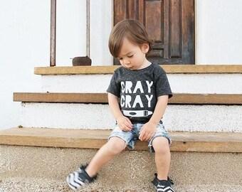 Boy shirt. Girl tee. Funny tshirt. Cray cray