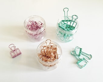 30 Small Binder Clips / Ligne Clips