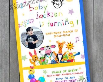 Baby Einstein Birthday Invitation - Little Einstein Birthday Invitation