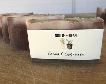 Cocoa and Cashmere Soap / Cold Process Soap / Handmade Soap / Natural Soap / Bar Soap / Vegan Soap