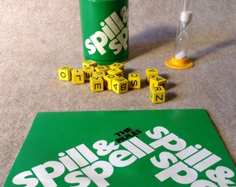 Vintage Spill and Spell Game - Complete - Parker Brothers No. 103 - 1978