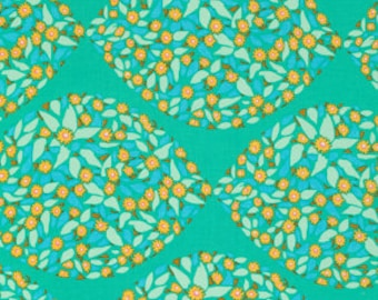 FQ Anna Maria Horner Field STudy Fabric Collection Mind's Eye Cotton Tambourine Turqouise