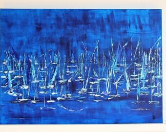 Regatta - painting 50x70cm