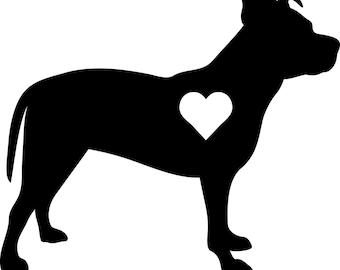 Pit Bull w/ heart decal