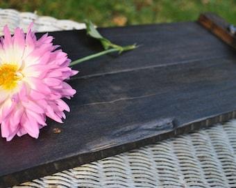 Coffee Table Tray, Small Wood Tray, Magazine Tray, Made With Reclaimed Wood, Sofa Tray, Couch Tray, Ottoman Tray, Small Ottoman Tray, Dark
