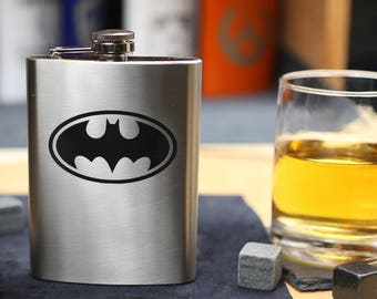 Batman - Stainless Steel Hip Flask