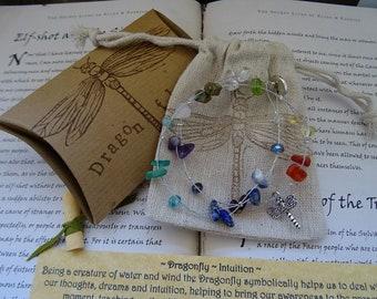 Chakra Dragonfly Gemstone Bracelet or Necklace