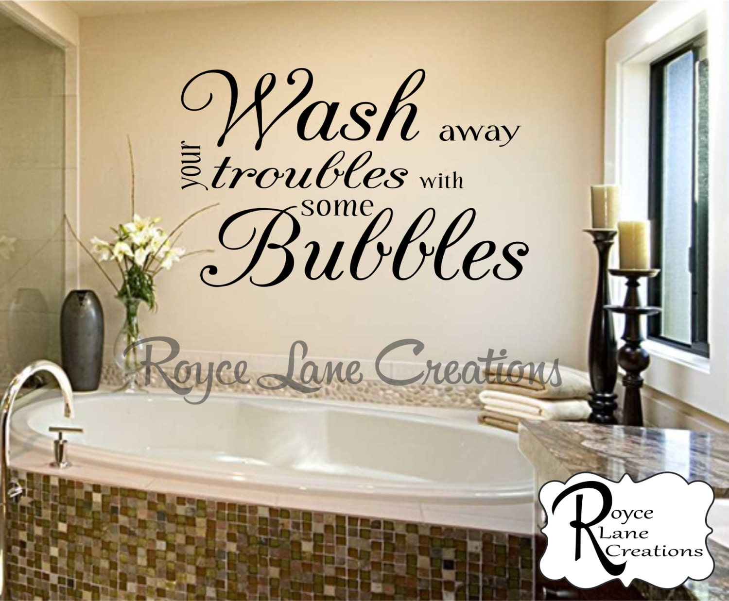 Bathroom wall decor wash away your troubles with some for Wall plaques for bathroom