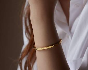 Coordinates Bracelet • Latitude Longitude Bracelet • Graduation Gift • Coordinates Jewelry • Coordinates Bangle in Sterling Silver CCB11