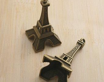 4pcs antiqued bronze Eiffel Tower design pendant charm G600