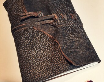 AUTHENTIC LEATHER JOURNAL Vulture Brown Hand Torn Personalized Rustic Leather Journal Sketchbook Notebook Travel Gift