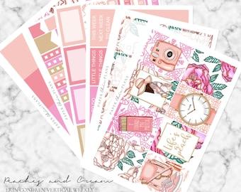 Peaches & Cream // Erin Condren Vertical Weekly Planner Kit - MATTE