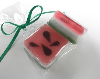 Watermelon Soap Favors with gift bags.