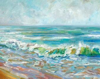Michigan Mist, Lake Michigan, Lake Huron, Lake Superior, Beach, Waves Fine Art Print, Giclee, Canvas Print