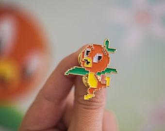 Pixel Disney Orange Bird Soft Enamel Pin - Give Kids the World Fundraiser
