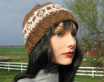 Alpaga tricot Fair Isle et bonnet de laine