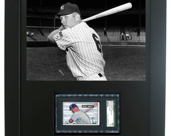 Sports Card Frame for an SGC Horizontal Card with an Opening for an 8 x 10 Horizontal Photo (New-all black)