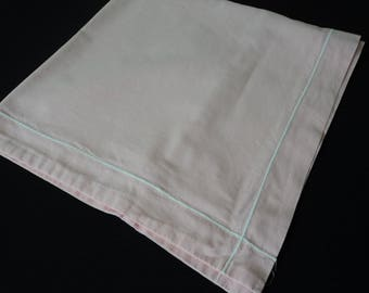French vintage pink cotton pillow case (05427)